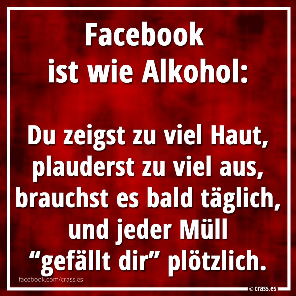 Facebook Ist Wie Alkohol Du Zeigst Zu Viel Haut Plauderst
