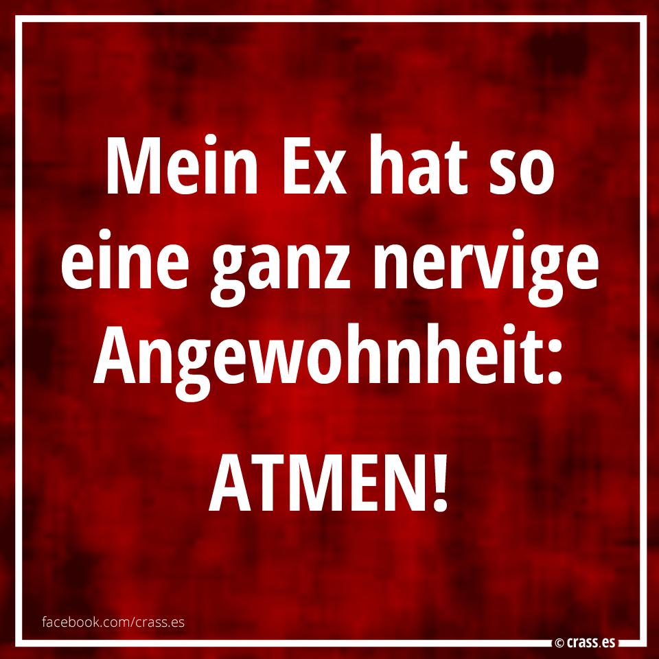 böse sprüche für den ex Mein Ex hat eine ganz nervice Angewohnheit: ATMEN! | Facebook  böse sprüche für den ex